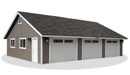 19 detached 3 car garage garage riverbend on the for How much does a 3 car garage cost to build